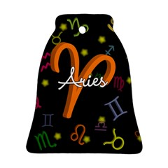 Aries Floating Zodiac Sign Bell Ornament (2 Sides)