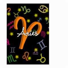 Aries Floating Zodiac Sign Small Garden Flag (two Sides)