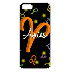 Aries Floating Zodiac Sign Apple iPhone 5 Seamless Case (White)
