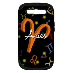 Aries Floating Zodiac Sign Samsung Galaxy S III Hardshell Case (PC+Silicone)