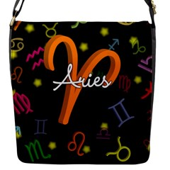 Aries Floating Zodiac Sign Flap Messenger Bag (S)