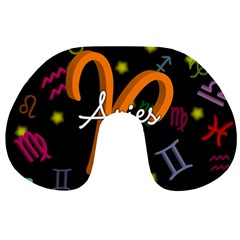 Aries Floating Zodiac Sign Travel Neck Pillows