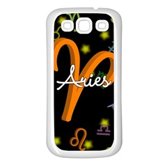 Aries Floating Zodiac Sign Samsung Galaxy S3 Back Case (White)