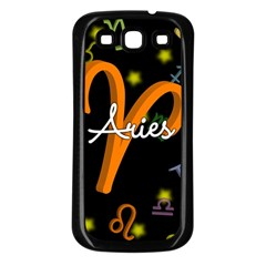 Aries Floating Zodiac Sign Samsung Galaxy S3 Back Case (Black)