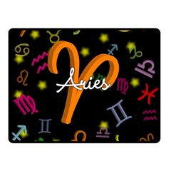 Aries Floating Zodiac Sign Double Sided Fleece Blanket (Small)
