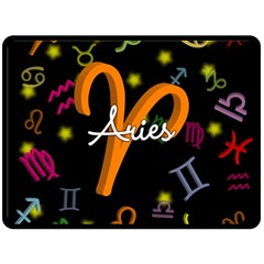 Aries Floating Zodiac Sign Double Sided Fleece Blanket (Large)