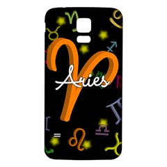 Aries Floating Zodiac Sign Samsung Galaxy S5 Back Case (White)