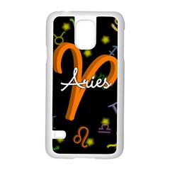 Aries Floating Zodiac Sign Samsung Galaxy S5 Case (White)
