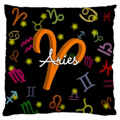 Aries Floating Zodiac Sign Standard Flano Cushion Cases (One Side)