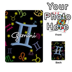 Gemini Floating Zodiac Sign Multi Purpose Cards (rectangle)
