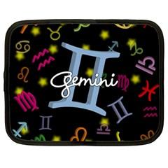 Gemini Floating Zodiac Sign Netbook Case (Large)