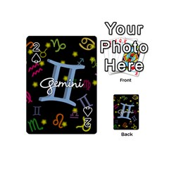 Gemini Floating Zodiac Sign Playing Cards 54 (Mini)