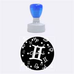 Gemini Floating Zodiac Sign Rubber Round Stamps (Medium)