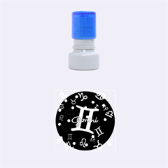 Gemini Floating Zodiac Sign Rubber Round Stamps (Small)