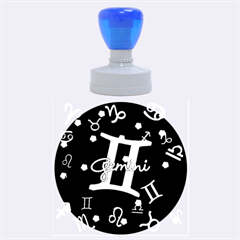 Gemini Floating Zodiac Sign Rubber Round Stamps (Large)