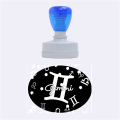 Gemini Floating Zodiac Sign Rubber Oval Stamps