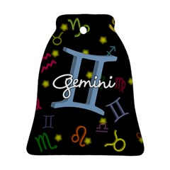 Gemini Floating Zodiac Sign Bell Ornament (2 Sides)