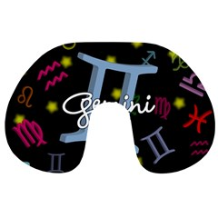 Gemini Floating Zodiac Sign Travel Neck Pillows