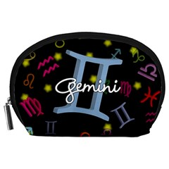 Gemini Floating Zodiac Sign Accessory Pouches (Large)