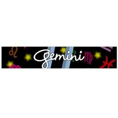 Gemini Floating Zodiac Sign Flano Scarf (Large)