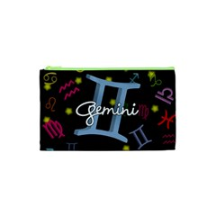 Gemini Floating Zodiac Sign Cosmetic Bag (XS)