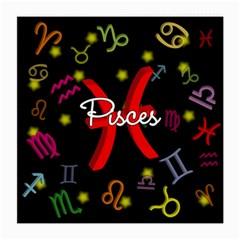 Pisces Floating Zodiac Sign Medium Glasses Cloth (2-Side)
