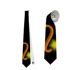 Pisces Floating Zodiac Sign Neckties (one Side)