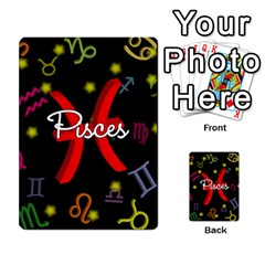 Pisces Floating Zodiac Sign Multi Purpose Cards (rectangle)