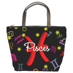 Pisces Floating Zodiac Sign Bucket Bags