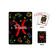 Pisces Floating Zodiac Sign Playing Cards (Mini)