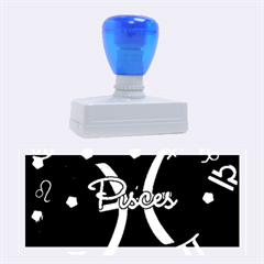Pisces Floating Zodiac Sign Rubber Stamps (Large)