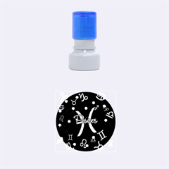 Pisces Floating Zodiac Sign Rubber Round Stamps (Small)