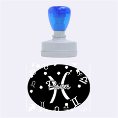 Pisces Floating Zodiac Sign Rubber Oval Stamps