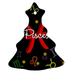 Pisces Floating Zodiac Sign Christmas Tree Ornament (2 Sides)