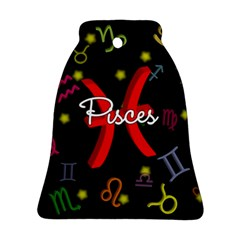 Pisces Floating Zodiac Sign Bell Ornament (2 Sides)