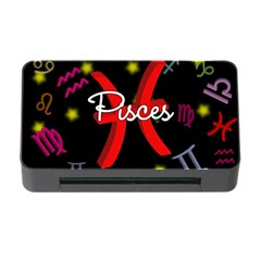 Pisces Floating Zodiac Sign Memory Card Reader with CF