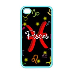 Pisces Floating Zodiac Sign Apple iPhone 4 Case (Color)