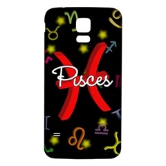 Pisces Floating Zodiac Sign Samsung Galaxy S5 Back Case (White)