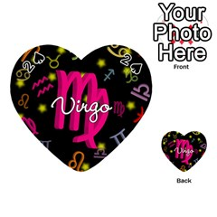 Virgo Floating Zodiac Sign Playing Cards 54 (Heart)