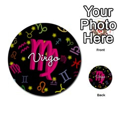 Virgo Floating Zodiac Sign Multi Purpose Cards (round)
