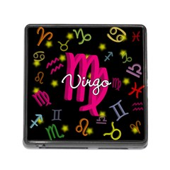 Virgo Floating Zodiac Sign Memory Card Reader (Square)