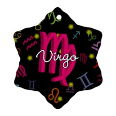 Virgo Floating Zodiac Sign Ornament (snowflake)