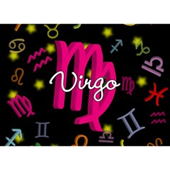 Virgo Floating Zodiac Sign Birthday Cake 3d Greeting Card (7x5)