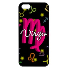 Virgo Floating Zodiac Sign Apple iPhone 5 Seamless Case (Black)