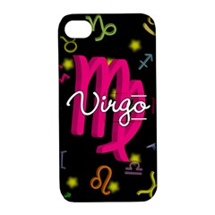Virgo Floating Zodiac Sign Apple iPhone 4/4S Hardshell Case with Stand