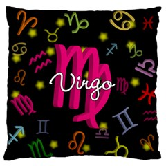 Virgo Floating Zodiac Sign Large Flano Cushion Cases (One Side)