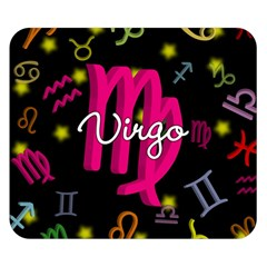 Virgo Floating Zodiac Sign Double Sided Flano Blanket (small)