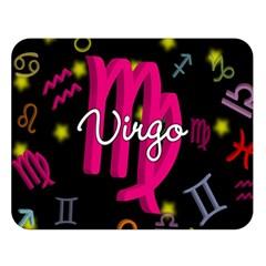 Virgo Floating Zodiac Sign Double Sided Flano Blanket (Large)