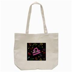 Libra Floating Zodiac Name Tote Bag (Cream)