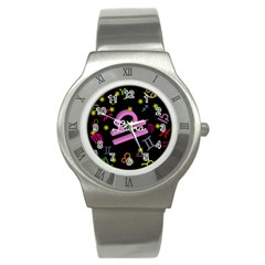 Libra Floating Zodiac Name Stainless Steel Watches
